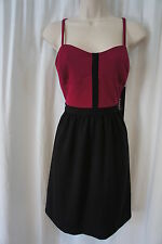 Kensie Dress Sz 10 Maroon Black Rayon Blend A-Line Cocktail Party Dress