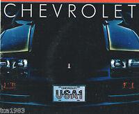 1983 Chevy Brochure:CAMARO,CORVETTE,MALIBU,IMPALA,MONTE CARLO,CAVALIER,CITATION