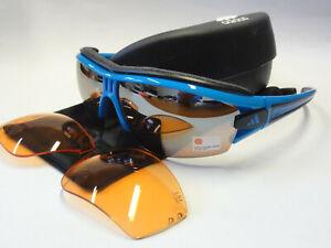 adidas Evil Eye halfrim pro S Sportbrille Radbrille a168 6059 blau komplett NEU