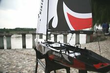 NEW Monsoon Sailboat Almost Ready to Run RC Remote Controlled Sail Boat w/ Stand