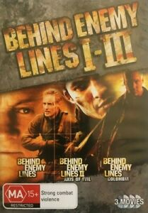 NEW Behind Enemy Lines I II III 1 2 3 Columbia *No GST* (DVD, 2009) FREE POSTAGE