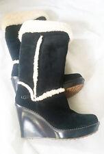 UGG® Black Sheepskin Knee High  Boots UK 7.5