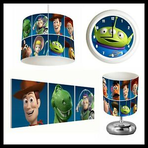 TOY STORY (177) - Bedroom Bundle Lampshade, Lamp, Clock, Canvas Prints