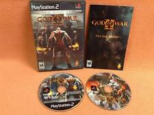 God of War II 2 Two Disc Set *Black Label* Playstation 2 PS2 FREE SHIP Complete