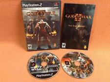 God of War II 2 Two Disc Set *Black Label* Playstation 2 PS2 FREE SHIP Complete