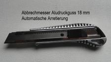 Cuttermesser Alu Druckguss 18mm Profi 20ersatzkli Messer Teppichmesser