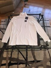 NWT Men's Croft and Barrow White Classic Turtle Neck LS XL Shirt MSRP $24