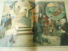 La Foi d'un Marin Breton il traverse à genoux le village de Béthard Print 1927