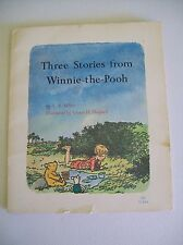 Winnie the Pooh Book 1st Printing 1966 US Three Stories A.A. Milne