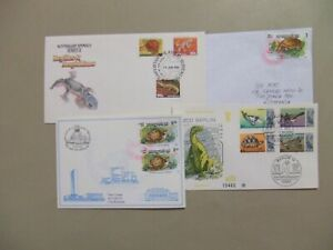 Four covers with TURTLE stamps