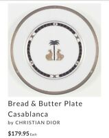 Limited Edition Christian Dior Casablanca bread and butter plate Great Condition