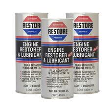 Restaurar su high-mileage Motor Con ametech Motor Restaurar aceite 3 En Inglés Latas