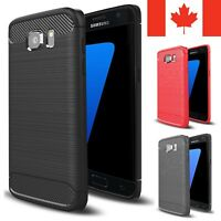 For Samsung Galaxy S7 Case - Shockproof Carbon Fiber Soft TPU Armor Cover