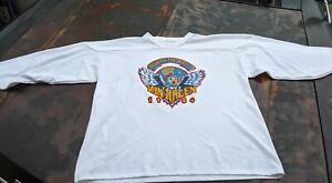 Vintage Van Halen 1984 Concert Tour Hockey Jersey Shirt Size XL 1984 Tour