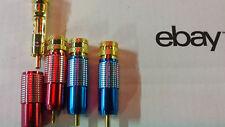 Oberklasse GOLD 4xCINCH STECKER SET EDEL rot+blau <8mm 24-KARAT Referenzklasse
