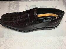 NEW STACY ADAMS SIGNATURE COLLECTION GALENA SHOES UPPER  ALLIGATOR SKIN SIZE 8M