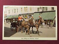 Mackinac Island Michigan Vintage Unused Postcard