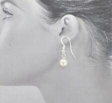 Freshwater Pearl Earrings, Dangle Earrings,  Sterling Silver, White Pearls
