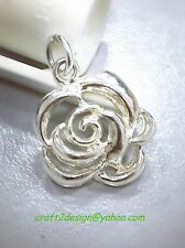 craft2design Pendant ~ 925 Sterling Silver Rose Graphic Pendant 16 mm