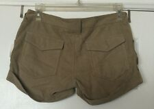 Joie Current Elliott Beige Natural Suede Leather Shorts Trousers Pants Jeans S