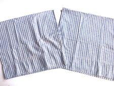 Vintage RALPH LAUREN Blue White STRIPED STANDARD Pillowcases *PAIR Lots Listed
