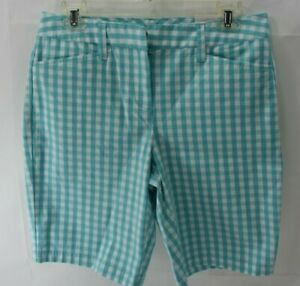 """LAND'S END MID RISE 10"""" CHINO BERMUDA SHORTS SZ 4 NEW WITH TAG"""