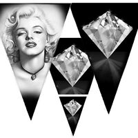 Black Bunting Marilyn Munroe, Diamonds, Hollywood, Party, Hen Night, Room Decor
