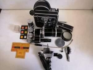 Bolex H16 Reflex REX-3 W/Vario-Switar Bolex Kern 18-86mm f2.5 EE RX!! 5 lenses