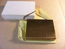 VINTAGE METAL CIGARETTE CASE / PURSE / COMPACT--RARE-IN ORIGINAL BOX W/ FELT BAG
