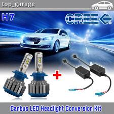H7 CREE 70W 7200LM 6000K LED Headlight Bulbs Fog Kit + Decoder Error Free Canbus