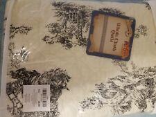 Cracker Barrel Ctry Quilt Standard Pillow Sham Black Toile Classic -New 20x26