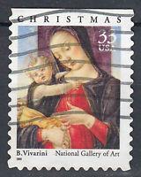 USA Briefmarke gestempelt 33c Christmas Vivarini Jahrgang 1999 / 730