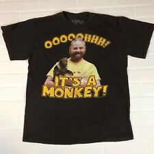 RIPPLE JUNCTION The Hangover Alan T-Shirt Medium Oooh A Monkey Brown Funny