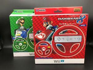 Wii Mario Kart 8 Red Wheel MARIO & Green LUIGI,Japan used boxed