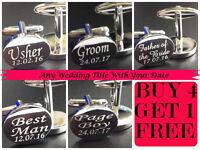 GIFT BOXED OVAL mens wedding cufflinks cuff link Groom best man usher m01