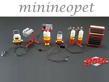 GMP 18869 SHELL OIL GARAGE ACCESSORY SET FOR 1/18 DIECAST MODEL CAR
