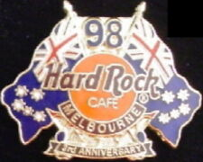 Hard Rock Cafe Melbourne 1998 3rd Anniversary Pin Australian Flags - Hrc #5539