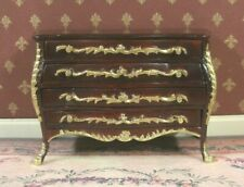 BOMBE CHEST ~ BESPAQ ~ Dollhouse ~ 1:12 scale ~ Custom Finish ~  Gold Detail