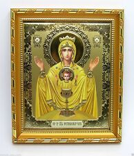 """Icon Mother of God Inexhaustible Cup consecrated Неупиваемая чаша 8.3x7.1x0.6"""""""