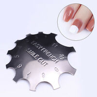 Manicure Easy French Line Edge Trimmer Stencil Nail Smile Cutter Tool 11 Sizes