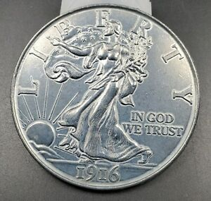 Large 3 Inch Novelty Coin/Coaster/Paperweight 1916 Walking Liberty Eagle Half