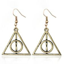 Harry Potter Bronze Deathly Hallows Earrings