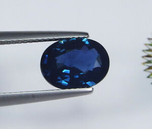 GIA Certified Unheated Natural Blue Sapphire Sri Lanka Oval 3.09 ct
