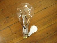 """Vintage Large 13"""" Light Bulb 120V special service stage yard light Working"""