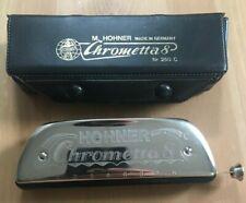 """M. Hohner Chrometta 8 """"C"""" Harmonica No. 250C"""