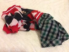 Dog (cat) knitted sweater w/pants Western Europe grid RED SMALL US SELLER