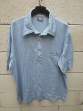 Polo LACOSTE Devanlay bleu gris look années 70 coton manches courtes poche 7