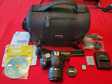 Nikon D3300 24.2MP Digital SLR Camera Kit w/Nikon AF-S 18-55mm VRII ~ 4K Clicks!