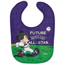 Colorado Rockies Baby Bib Disney Mickey Mouse Feeding Infant MLB Baseball Fan