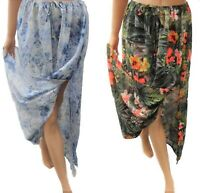 Womans Ladies Summer Holiday Beach Skirt Sarong Cover Up Plus size 18-32 UK